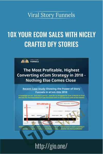 10X Your Ecom Sales With Nicely Crafted DFY Stories - Viral Story Funnels