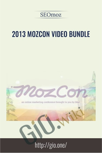 2013 MozCon Video Bundle - SEOmoz