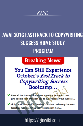 AWAI 2016 FastTrack to Copywriting Success Home Study Program - AWAI