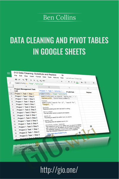 Data Cleaning and Pivot Tables in Google Sheets - Ben Collins