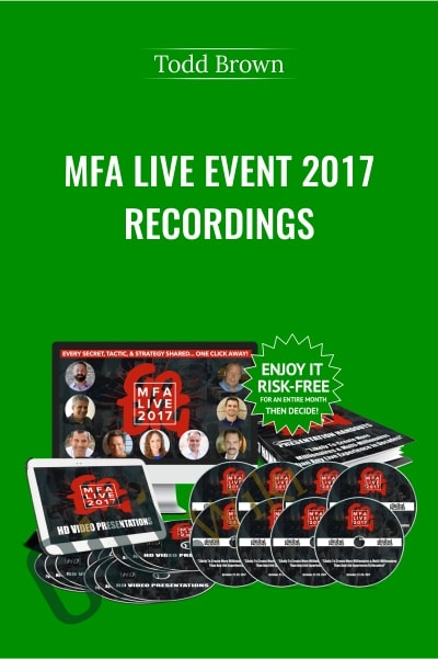 MFA Live Event 2017 Recordings - Todd Brown
