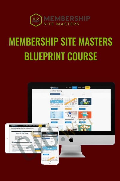 Membership Site Masters Blueprint Course