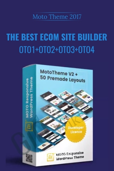 The Best Ecom Site Builder - Moto Theme 2017