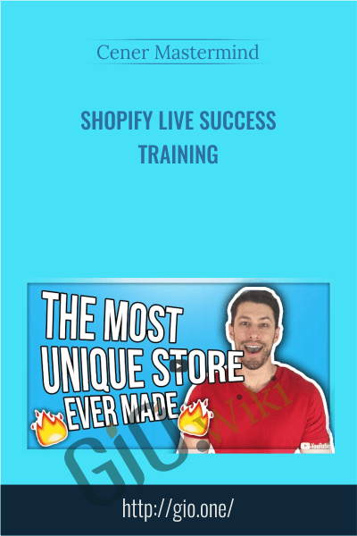 Shopify Live Success Training - Cener Mastermind