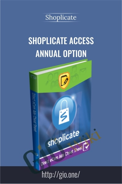 Shoplicate Access - Annual Option - Shoplicate