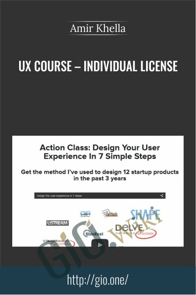 UX Course – Individual License - Amir Khella