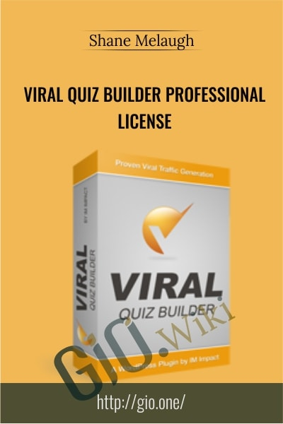 Viral Quiz Builder Professional License - Shane Melaugh