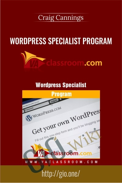 WordPress Specialist Program - Craig Cannings