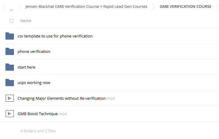 Jensen Blackhat GMB Verification Course + Rapid Lead Gen Courses