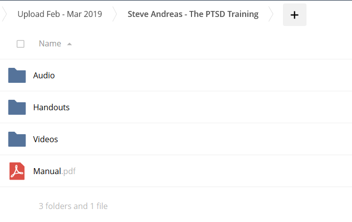 The PTSD Training - Steve Andreas