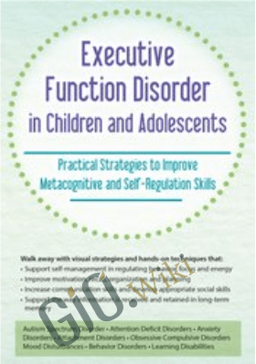 Executive Function Disorder in Children and Adolescents: Practical Strategies to Improve Metacognitive and Self-Regulation Skills - Kathy Morris